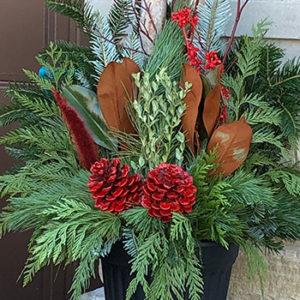 12″ Christmas Planter